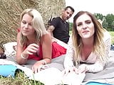 Hot French Threesome with 2 sluts and Tony