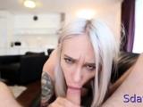 Adorable Arteya performs python licking session