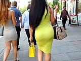 Yellow dress milf booty