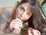 Blowjob, Cowgirl and Footjob from a Teen Slut - Amateur Dread Hot