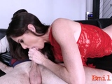 Succulent youngster Monica Sage blows and fucks
