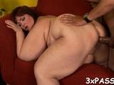 Priceless oral-sex from fattie