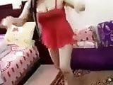 arab hot girl dancing with sexy red dress
