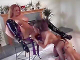 Sexy blonde and a brunette has fun