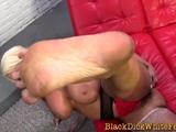 Busty milf foot fucks bbc