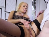 Mom and husband fuck in the morning blonde milf big tits