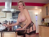 Unfaithful british milf gill ellis flashes her gigantic breasts