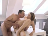 Threesome riding face and cock hd double handjob blowjob