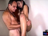 Middle aged horny dude cheats with a real Thai jooker
