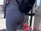 Candid Walk 76 - PAWG in Grey Yoga Pants