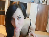 German Babe Makes Magic With Her Hands And Mouth