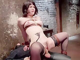 Little Asian slave is strapped