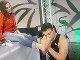 Sheri Taliani Wirh Egyptian Pornstar Linda del Sol in Fetish Feet and Kiss
