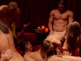 Outdoor sex games with a sex group of horny swinger couples.