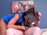 Big girl dominates guy and extreme leather bondage Fuck