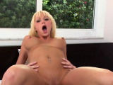 Dick riding amazes lascivious maiden Rikki Six