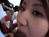 japanese girl takes a good facial