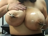 Crazy latina with giant natural tits