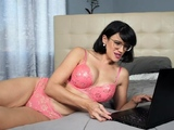 Watching porn with my big boobed mature stepmother