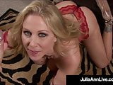 Nut Busting Julia Ann Gets Cum Filled Dick In Pretty Piehole