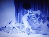 Young couple having sex filmed with spy cam ..