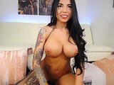 Hot Tattood Latina Show Of Her Big Assests