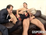 Threesome sex in the music school