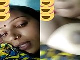 Desi village bhabhi showing her boobs on a video call