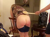 Bad girl bent over