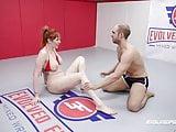 Lauren Phillips vs Indiana Bones in rough nude sex wrestling