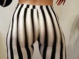 butterface twerking in stripped tights