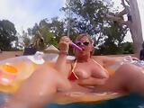 Mauritius Dildo In The Pool - TacAmateurs