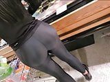 AMAZING PERFECT ASS IN LEGGINS SPANDEX