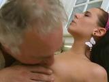 Tempting brunette russian hottie gets fucked so well