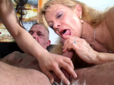 Old German Woman Teach Young Teen to Fuck in Threesome