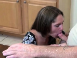 Dad fucked daughter in kitchen and cum inside her by mistake