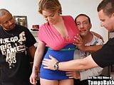 Big Tits Tan Slut Gangbang Fuck Party!