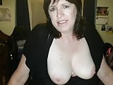My 55 year old Grandmother showing her Tits to camera